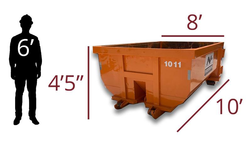 10 yard dumpster size comparison