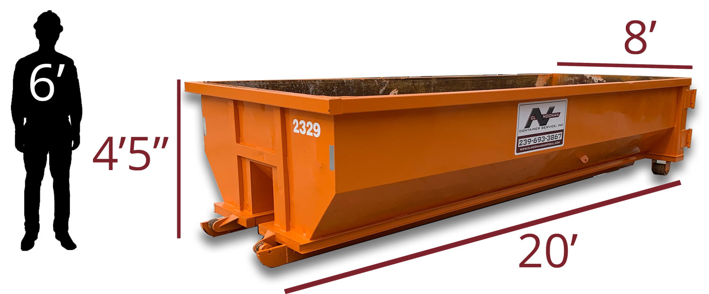 20 Yard Dumpster Measurements