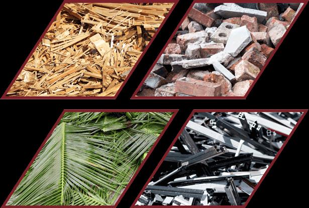 horticulture wood metal brick debris